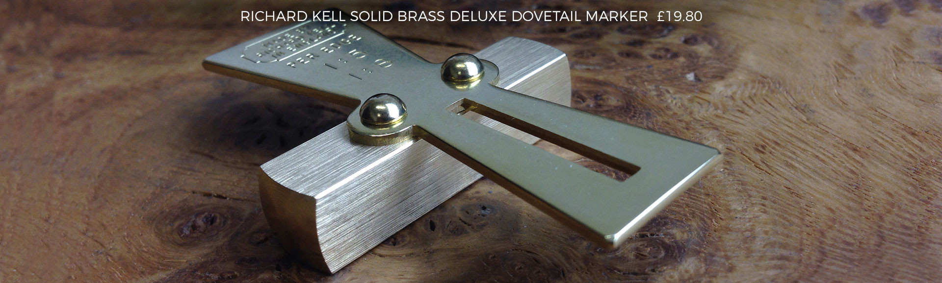 Richard Kell Solid Brass Deluxe Dovetail Marker